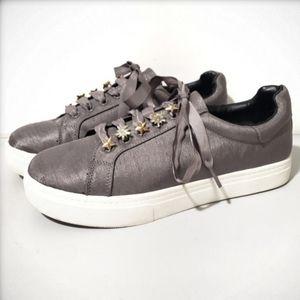 Sam Edelman Shania Grey Platform Sneakers w/ Charm